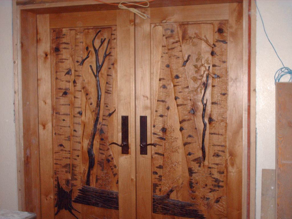 Carved Door- Aspen Woods