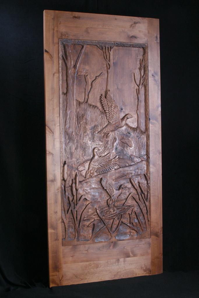 Carved Door- Duck Scene