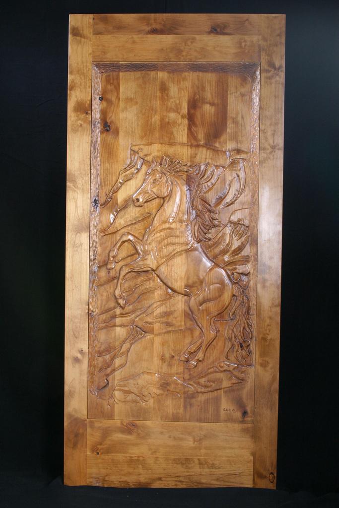 Carved Door- Mustang