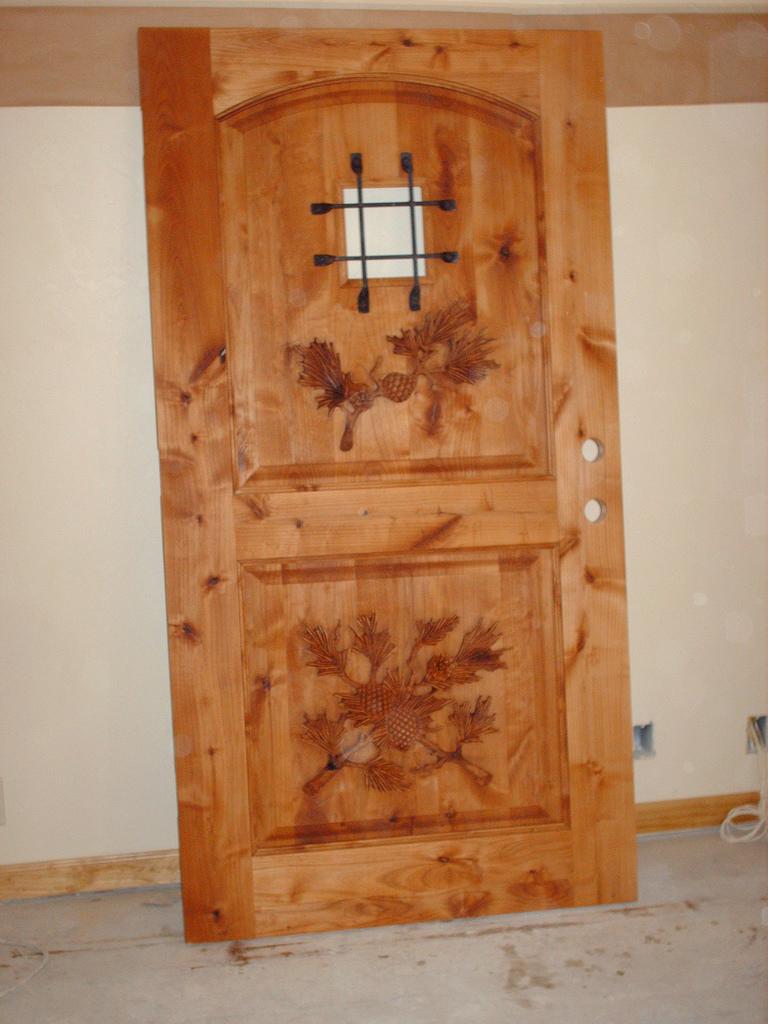 Carved Door- Pine Boughs