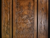 Carved Walnut Door- Moose