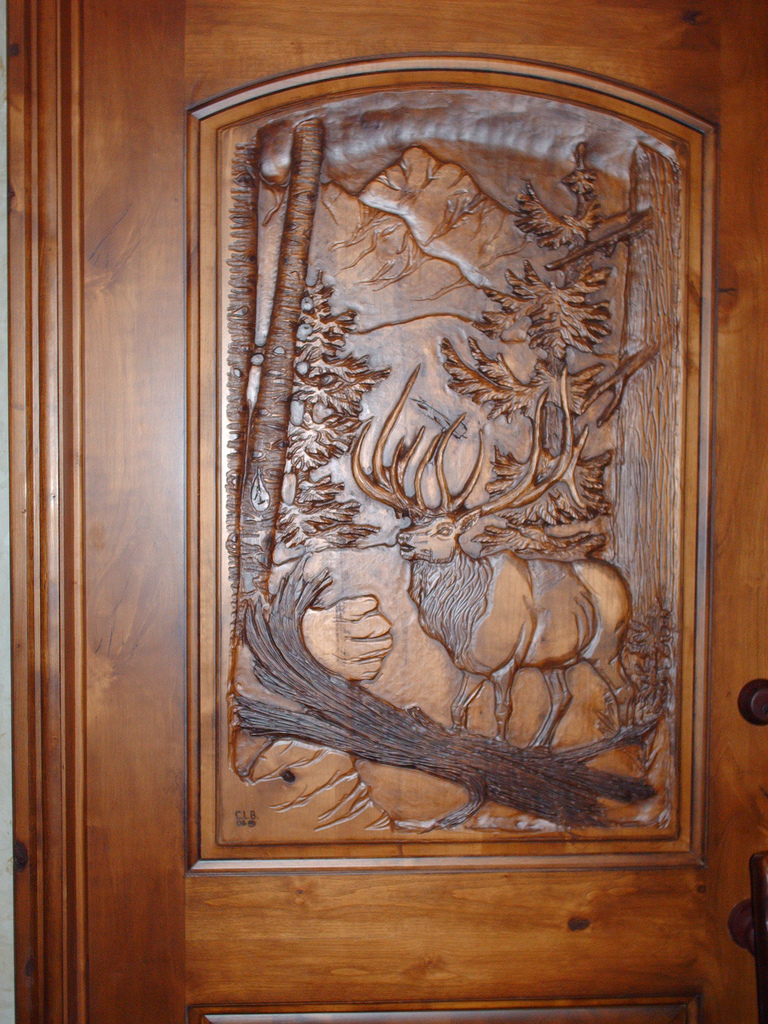 wooden carving main doors vertical home garden