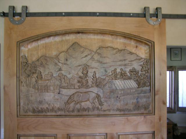 Carved Door- Wilson Peak