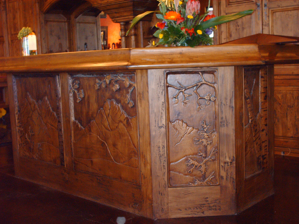 Carved Bar Panel Side Shot