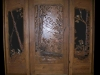 Full Scenic Carved Glass Door