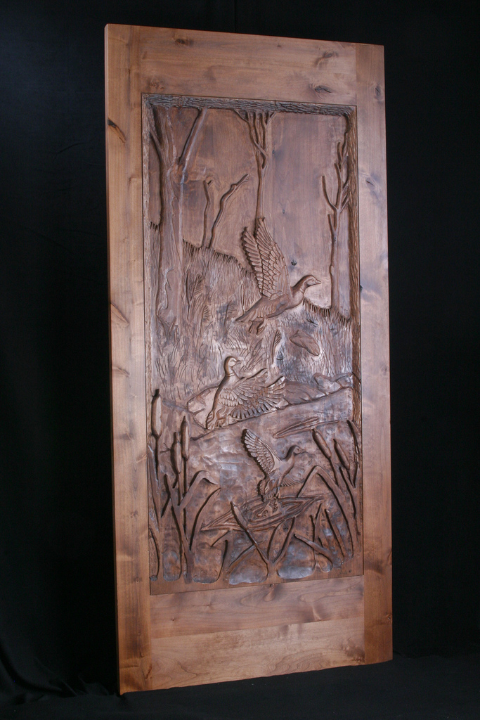 Carved Door- Ducks