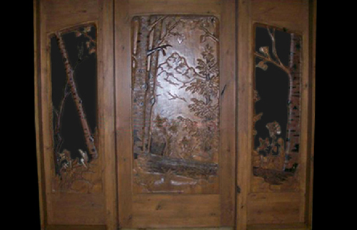 Multi Panel Glass Door- Forest