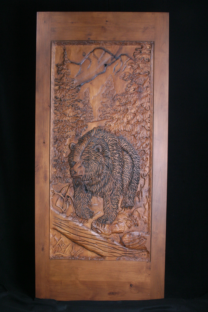 Carved Door- Bear