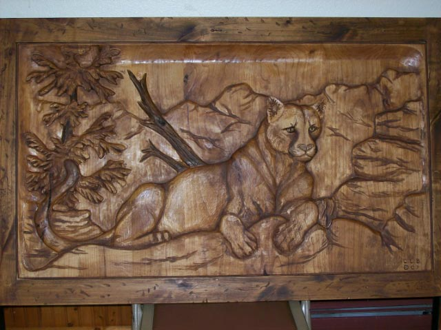 Cougar Art Carving : wood carving wall art - www.pureclipart.com